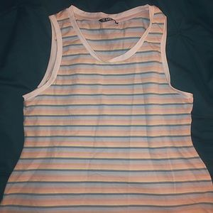 💜3 for $15! Never Worn Pastel Striped Tank Top